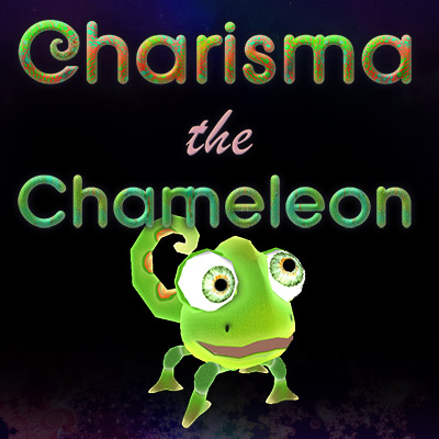 Charisma The (Space) Chameleon Logo